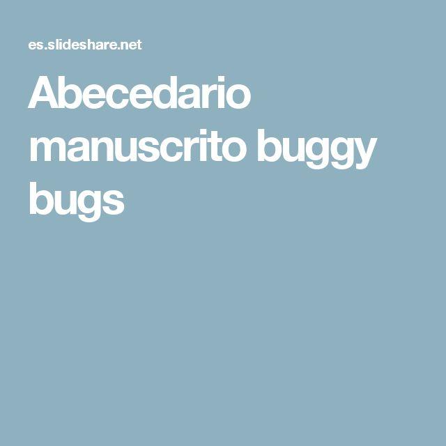 Abecedario manuscrito buggy bugs