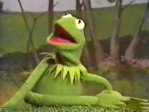 Kermit singing his little heart out. Go Kermit!