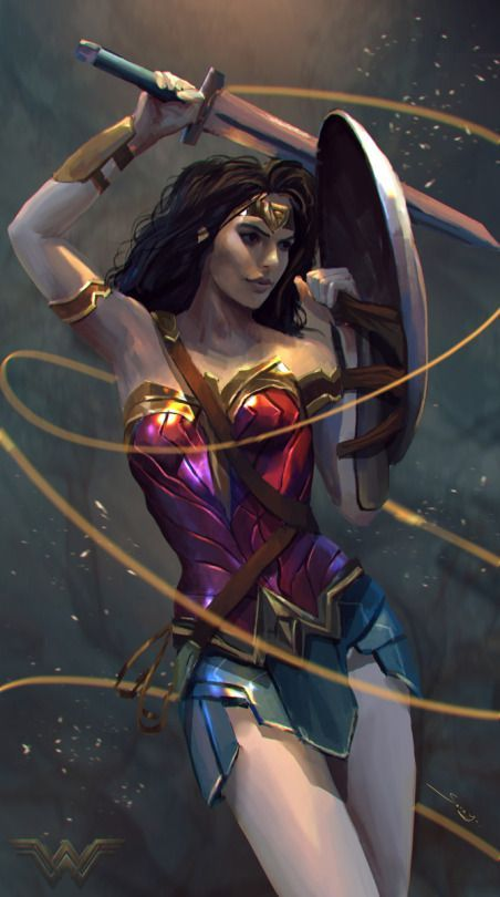 Wonder Woman by Sarayu Ruangvesh - visit to grab an unforgettable cool 3D Super…