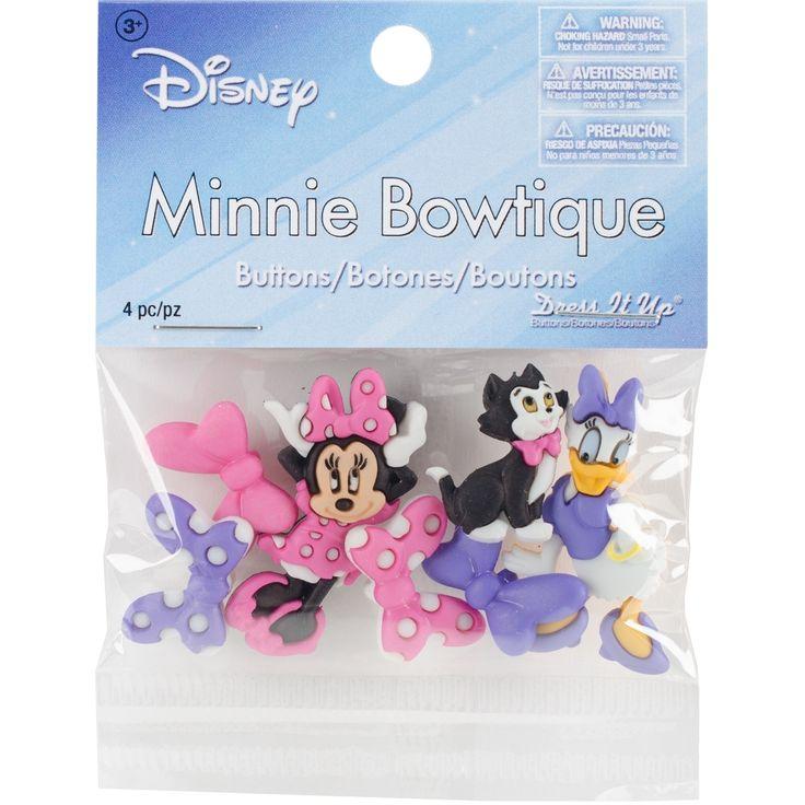Jesse James Dress It Up Licensed Embellishments-Disney Minnie Boutique - disney minnie boutique