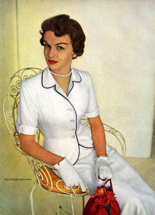 Suit by Handmacher, 1953 | 1950s | Pinterest