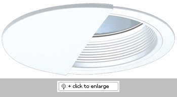 """7"""" Compact Fluorescent Horizontal Wall Wash with Baffle Trim  Dimension: 7 1/2""""O.D."""