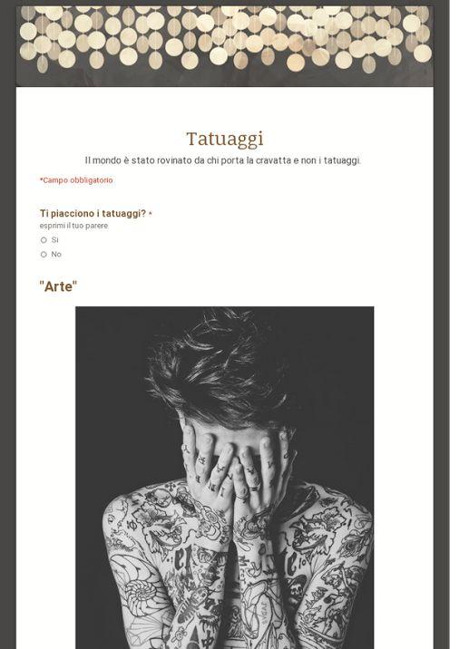 Sondaggio Tatuaggi
