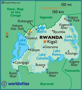 #1 Lake Kivu in the northwest is the highest lake in Africa. Extending north of it are the Virunga Mountains, which include the volcano Karisimbi, Rwanda's highest point.