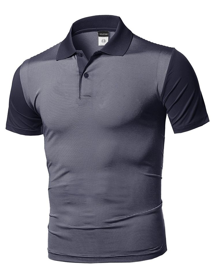 Mens solid cool drifit active leisure short sleeve polo