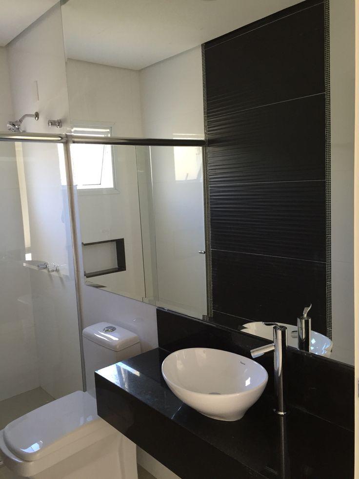 32 melhores imagens sobre banheiro preto e branco no Pinterest  Cuba, Lavado -> Banheiros Modernos Em Preto E Branco