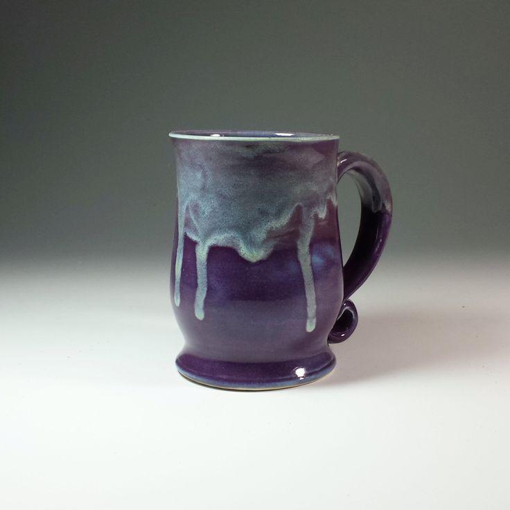 handmade purple pottery ceramic coffee pottery mugready to ship pottery mug ceramic mugpurple ceramic mugpurple tea mug