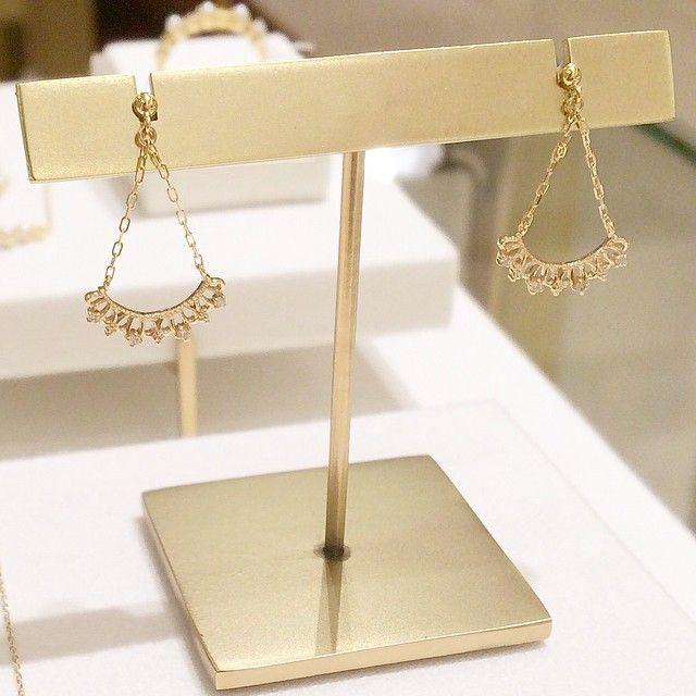 K10YG diamond pierced earrings #tocca #japan