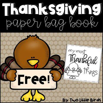 Thanksgiving Writing Activity: Paper Bag Book – Pre-K 2019-2020