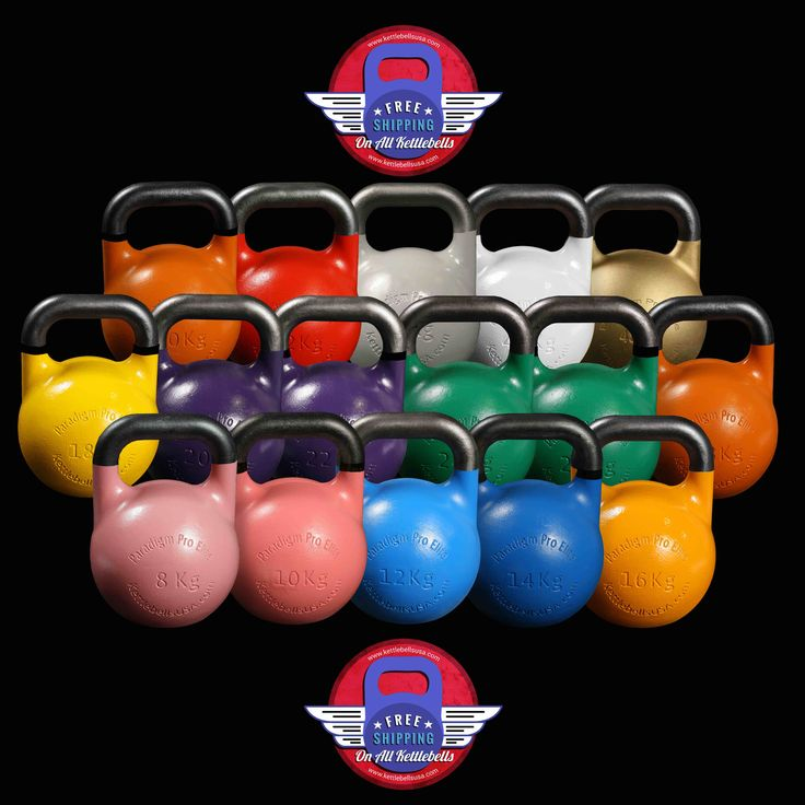 Paradigm Pro® Elite by Kettlebells USA® is the Original Hollow Core Competition Sport Kettlebell with Superior Balance, Handles and Window Opening - Free Shipping