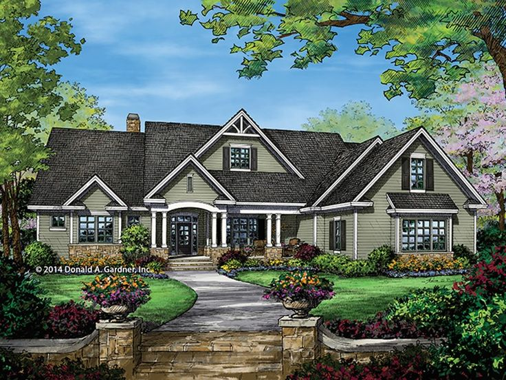 ePlans Craftsman Style House Plan – Awesome Ranch – 2863 Square Feet and 4 Bedrooms from ePlans – House Plan Code HWEPL77459