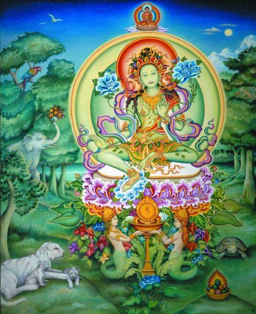 Google Image Result for http://www.dakiniunlimited.com/images/greentara_naginis.jpg