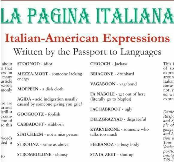 Know it all, lol now that's Italian 🇮🇹♥️