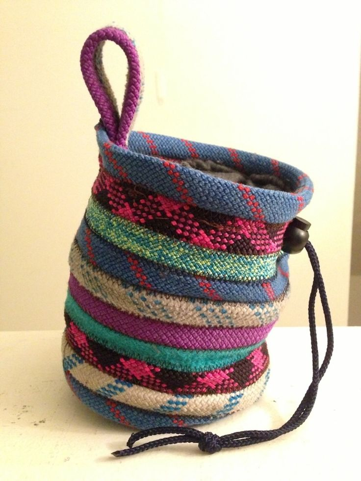 Recycled Rope Chalk Bag, $30.00 Outdoor Sidewalk Chalk Bag For School.  Then learn how this is used in rock climbing!