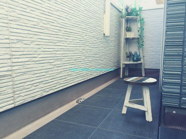 DIY IKEA イケア RUNNEN PLATTA フロアデッキ ウッド デッキ パネル タイル フロア ベランダ ジョイント 屋外用 劣化 経年 変化 補修 修理 完成