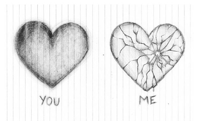 My heart is the one in the right