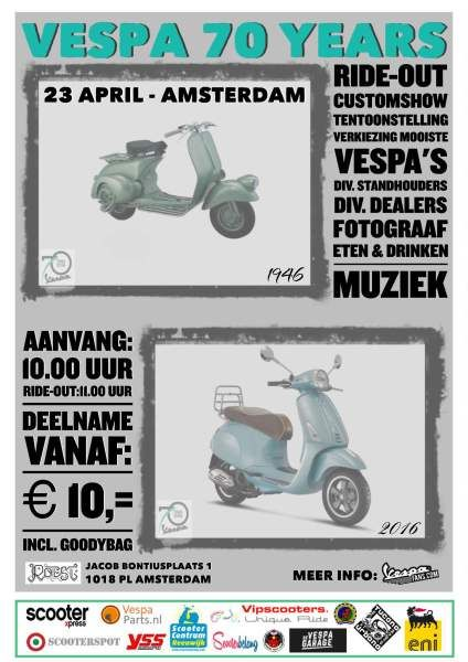 Vespafans Vespa 70 years event