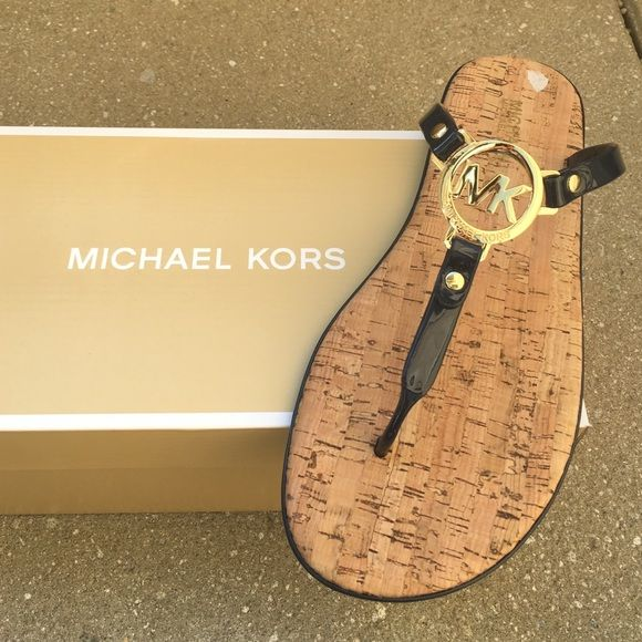 Michael kors navy blue sandals Brand new pair of sandals with  box . Color is a very dark navy blue almost looks like black .❗️ final price ❗️no further offers or bundle discounts ❗️ Michael Kors Shoes Sandals