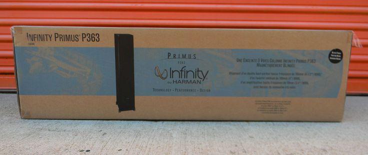 "2 NEW Infinity Primus P363 6.5"" Tower Speakers Model #P363 BK Floor Standing  #Infinity"