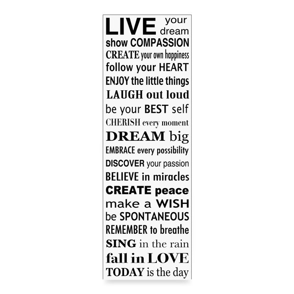 'Live Your Dream' Wall Art - White - Bed Bath & Beyond 12 X 24 25
