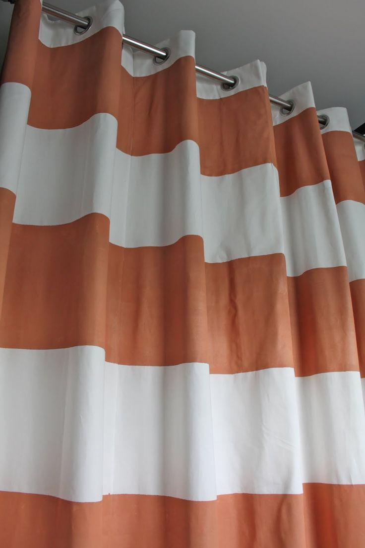 Striped outdoor curtains - Dwellings By Devore Striped Shower Curtain Diy Style