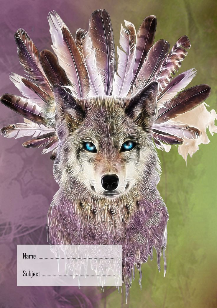 Wolf Exercise Book Cover, School Book Cover (AU size 9x7) #Wolf #wolves #bookcover