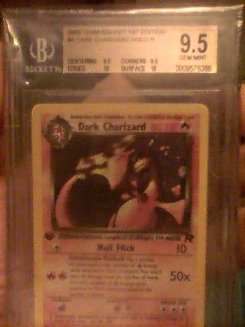 2000 Team Rocket 1st Edition Dark Charizard Holo 4/82 BGS 9.5  -- .5 from BGS 10