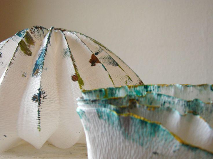eco design-paper art-lampade di carta-origami-paper lamps-green design-Roma