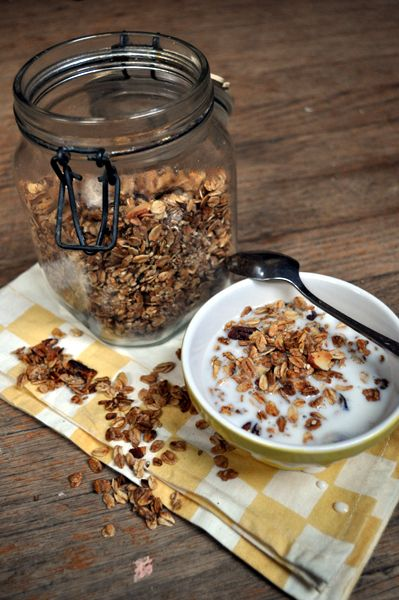 I would nix the oil…we'll see how that works out vegan granola