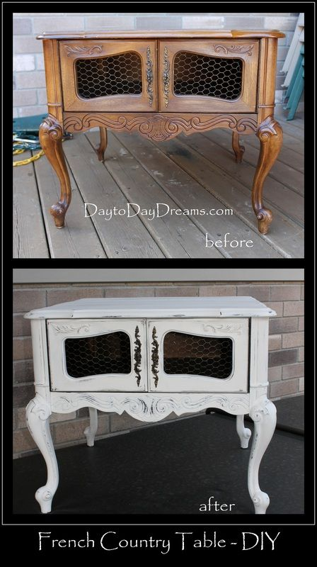 French Country Table - DIY DaytoDayDreams.com: