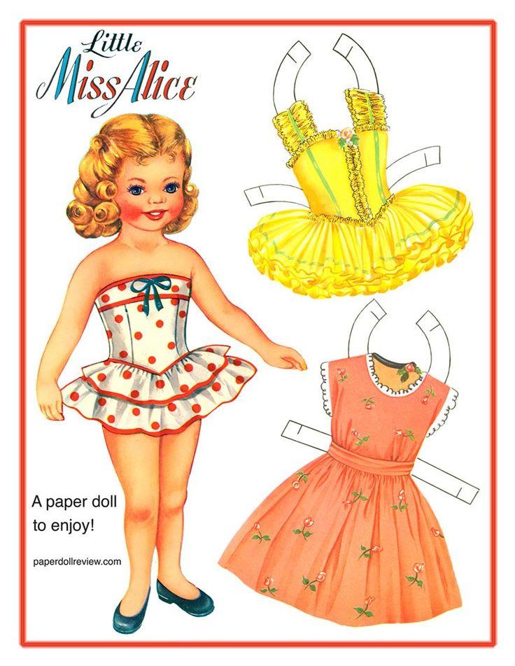 Free Vintage Paper Doll....love it