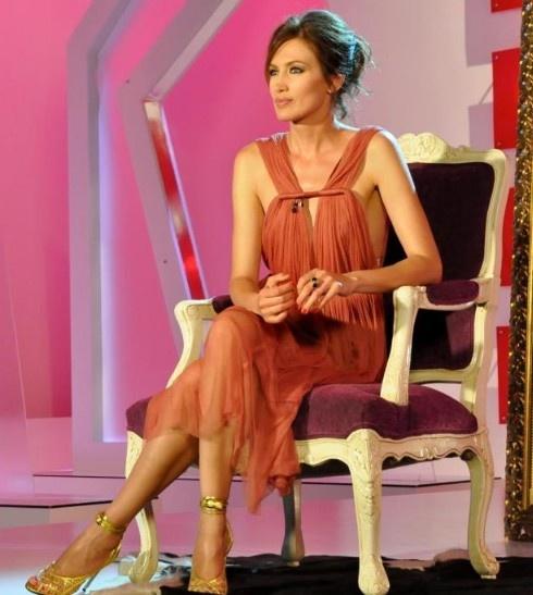 Nieves Alvarez in Lanvin Spring 2012 at Solo Moda TV Show