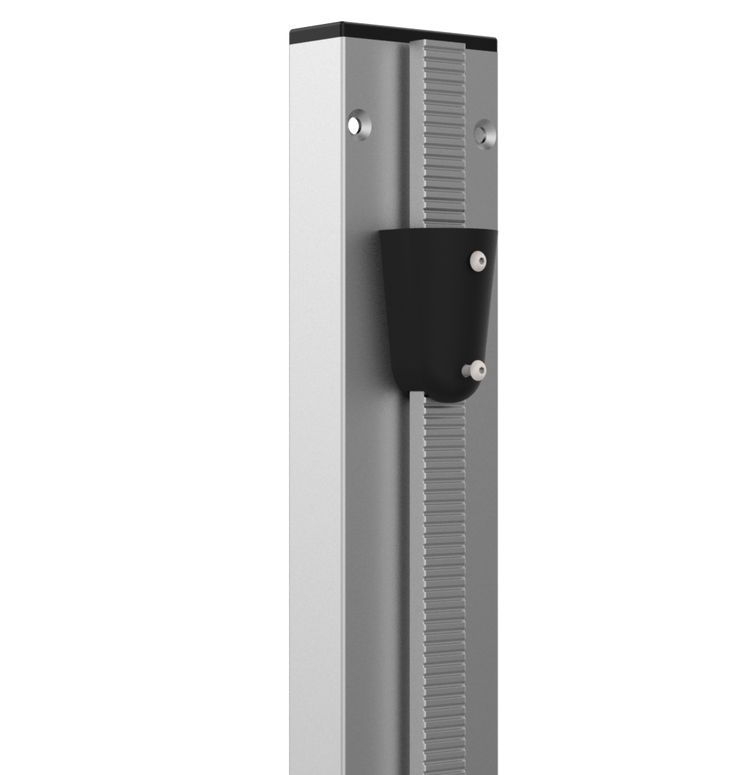 Catipilla Pro was built with both safety and security in mind and this  pillar forms the backbone of the design. Made from polished aluminium, the  pillar supports any number of tread plates, which are locked in place using  an adjustable stopper. Cat Tree.