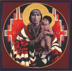 """""""Joseph and the Christ Child"""" by Father John Giuliani  (there is so little art with Joseph and his son ...interesting)"""