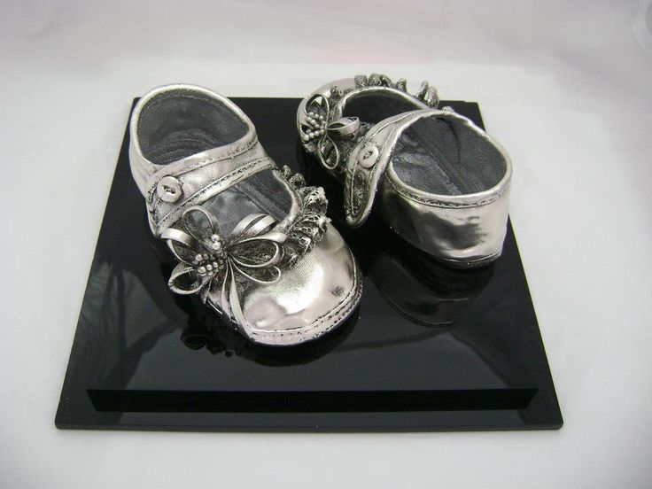 Baby's shoe coated with 999° pure silver! By Shine4ever.gr!