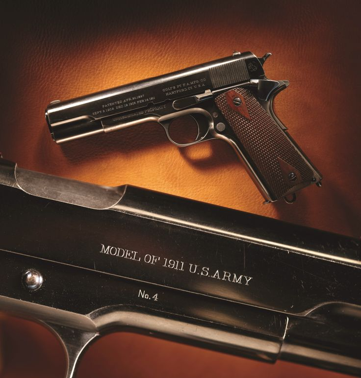 Colt Model 1911, No. 4 – It's been a while since we showcased a nice 1911 and the low serial number on this one also ought to attract some attention.  Wish we had 1, 2, and 3 here. This M1911 .45 pistol bears No. 4 on its right frame face. During the developmental evolution of the Model 1911, there were duplicates of very low numbers as different variations were created and evaluated.  We think the finish on this one is fantastic and it obviously never saw much usage.