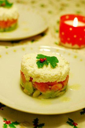 クリスマス★サーモンとアボカドのサラダ