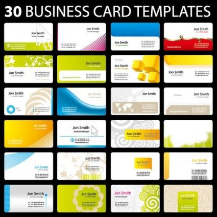 30 of practical card template vector