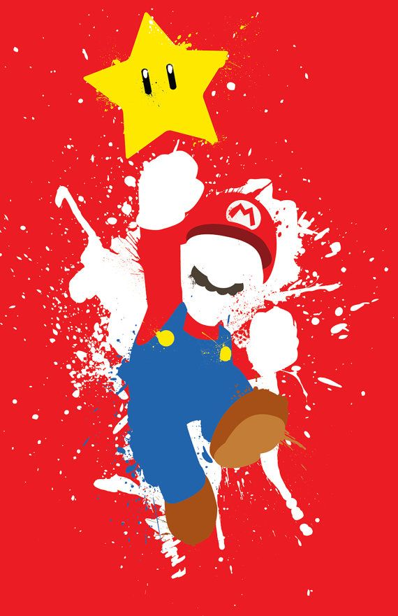 Mario Paint 3Poster Set by TheDailyRobot on Etsy  #Mario