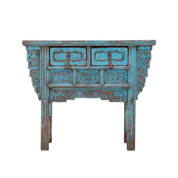 Antique Rustic Blue Small Console www.theimporter.co.nz