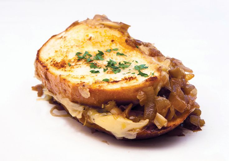 french onion soup sandwich: I made this for lunch today ...