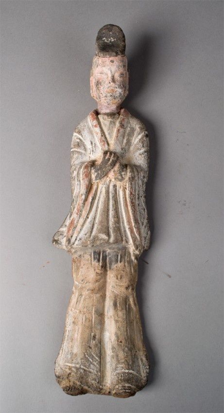 """Depicting a standing officer 14.3/8""""H Circa 386-557 A.D.Dynasty 420589"""