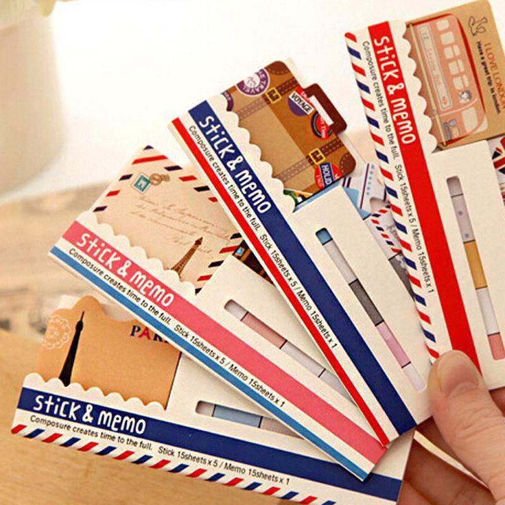 4 PC Mini Memo Pad Sticky Note Kawaii Paper Scrapbooking Sticker Pads Creative Korean Stationery Free Shipping 369
