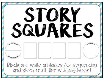 Use this freebie in speech and language therapy with ANY book to target sequencing and story retell. From Speechy Musings.