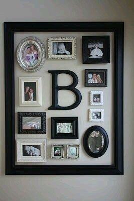 shadow box photo collage idea for baby let s get crafty crafts