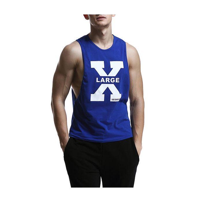 f383929290a7 US  12.72 - SEOBEAN Mens Summer Printed Casual Cotton Vest Fitness Jogging  Sport Tank Tops