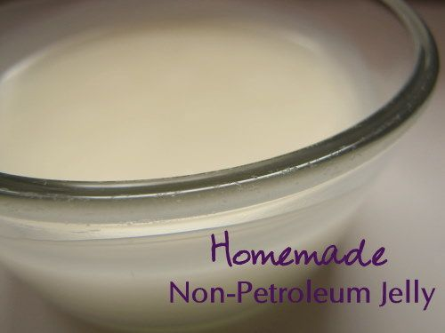 DIY Non-Petroleum Jelly    The average woman absorbs 7 pounds of petroleum (oil) products in her lifetime which can cause various medical problems!  These type of products (lip gloss, Vaseline, etc) are banned by the European Union.