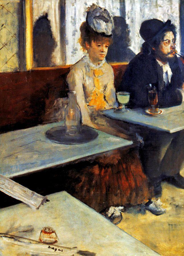Edgar Degas - Absinthe (1876)  #art #fineart #modernart #modernism #modern #painter #artist #lifeofanartist #arthistory #masterpiece #masterwork #artgallery #artbeat #artalive #supportart #followart #arttovisit #greatart #masterartists #modernmasters