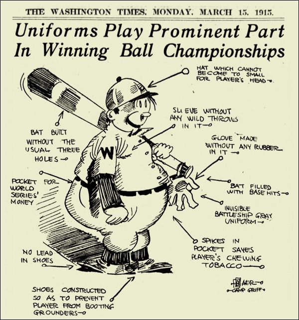 CARTOON: A 1915 primer on the design of baseball uniforms.