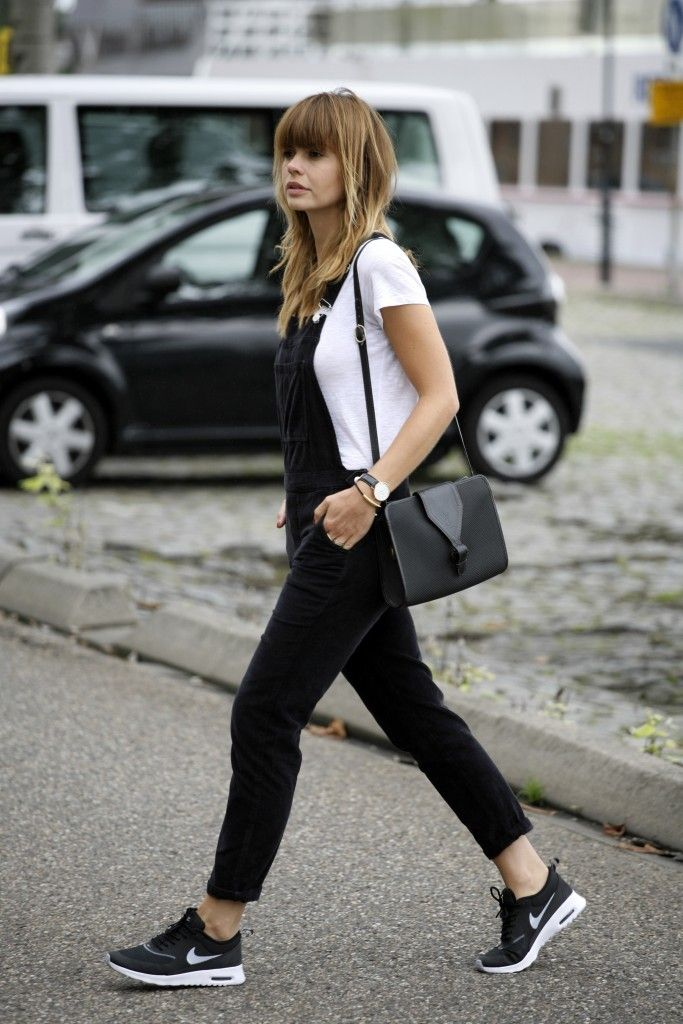 Nike Air Max Thea Cord Dungarees Overalls YSL bag Fashion Zen Streetstyle Blogger